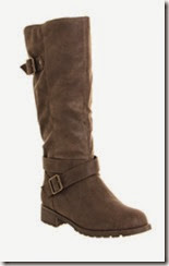 Office Chocolate Faux Fur Lined Winter Boot