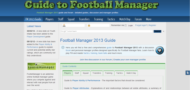 Guide to Football Manager
