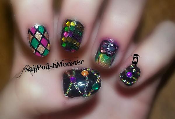 Mardi Gras Nail Designs | Nail Designs, Hair Styles, Tattoos and
