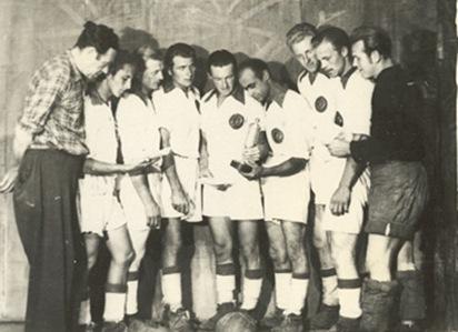 Немецкая команда Чемпионат Европы 1955 год.