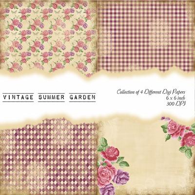 Vintage Summer Garden Front Sheet