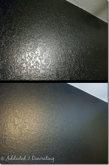 black wall before and after