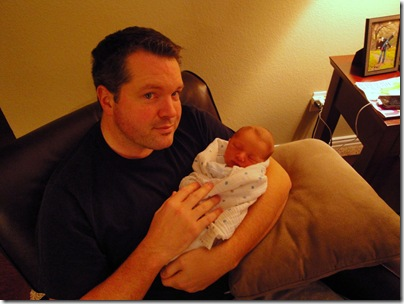 10.  Daddy holding Knox