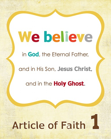 article of faith 1