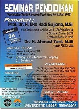 Seminar Pendidikan HIMAFI UNM