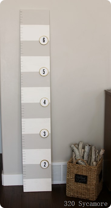 Diy Growth Chart With Canning Lids 320 Sycamore