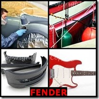 FENDER- 4 Pics 1 Word Answers 3 Letters
