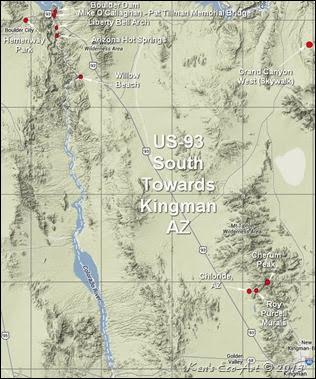 Kens Photo Gallery Us 93s Boulder City To Arizona - Us-93-arizona-map