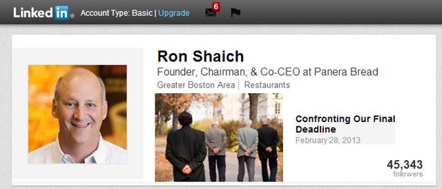 Ron Shaich - CEO Panera Bread