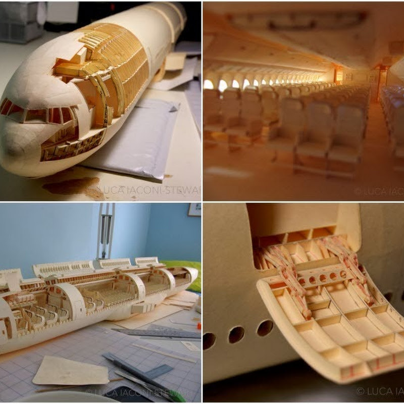Scale Model of Boeing 777 Built Entirely From Paper