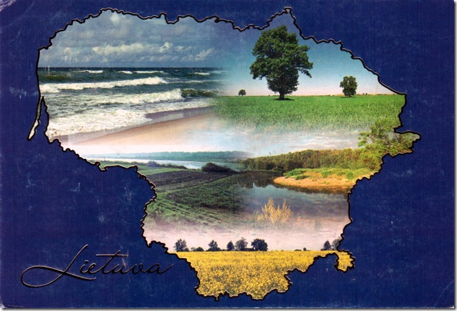 map card of Lithuania