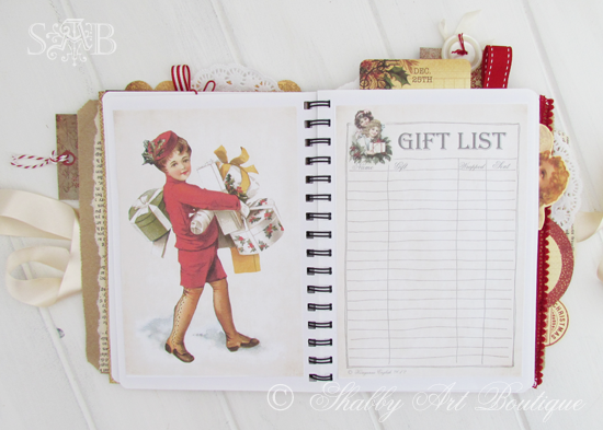 Shabby Art Boutique Christmas Planner 4