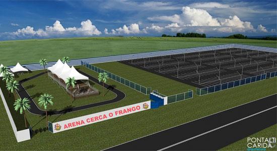 Arena Cerca o Frango - Projeto 3D