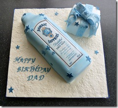 bombay Gin Bottle Birthday Cake
