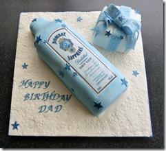 bombay Gin Bottle Birthday Cake