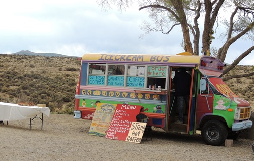 Ice cream bus at the Gorge Bridge adds to the ambiance