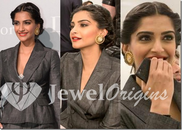 Sonam_Kapoor_Gold_Earrings