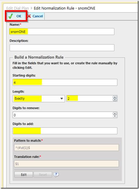 dial plan normalization rule