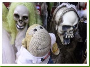 Gruesome Halloween skulls