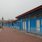 Qingdao - Plage N2 - Les cabines bleues