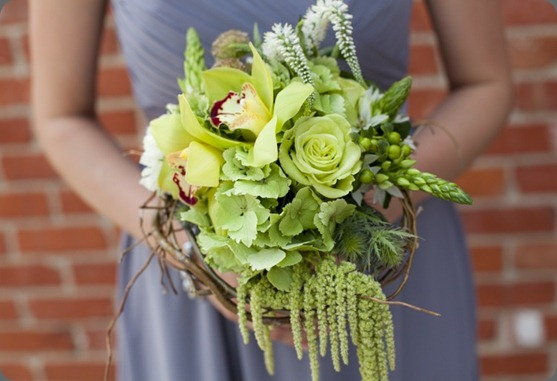 Green Bridesmaid Bouquet by Cori Cook Floral Design cori cook