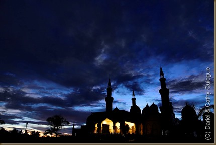 The Grand Mosque of Cotabato City at dusk