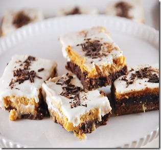 pumpkin cheesecakebars