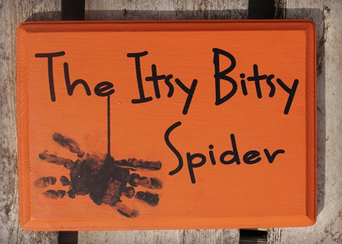Itsy Bitsy Spider Handprint Sign