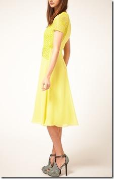 Midi Tea Dress with Pleat Lace3