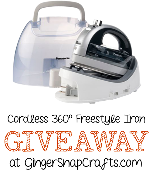 Cordless 360º Freestyle Iron Giveaway at GingerSnapCrafts.com