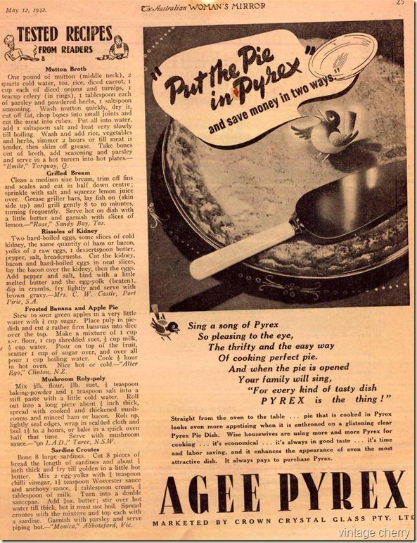 12 may - pyrex ad