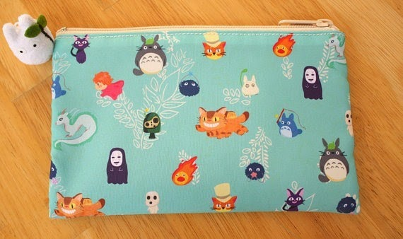 Ghibli Zippered Pouch from Fawn Feather