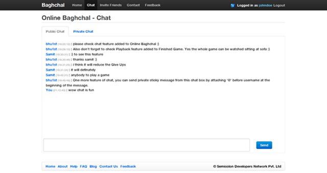 OnlineBaghchalChat