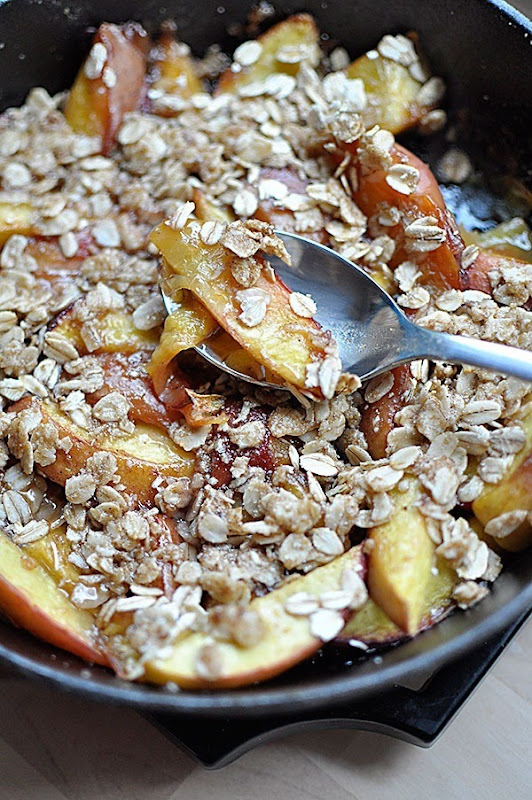 DeLIGHTful Peach Crisp Recipe: Peach cobbler doesn't have to be loaded with fat and calories. This version uses simple ingredients to amp up the flavor and tone down the calories.