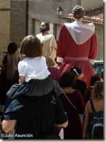 Gigantes por las calles de Artajona - Navarra