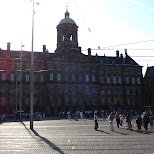 royal palace on dam square in amsterdam in Amsterdam, Noord Holland, Netherlands