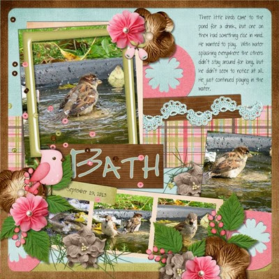 Katie Creates - Tranquil Forest - Bird Bath