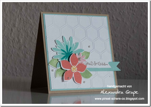 Stampin-up_Karte_Flower-Patch_Gesammelte-Grüße_Big-Shot_Honigwaben_alexandra-Grape