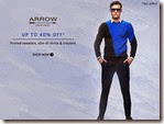 Myntra  : Get Upto 40% off on clothing by Arrow