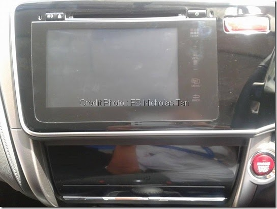 Screen LCD Honda city 2014