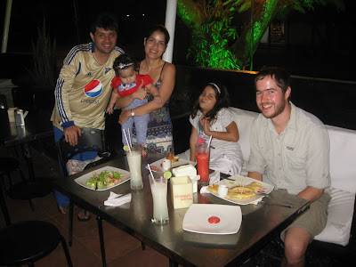 with my friend and his family