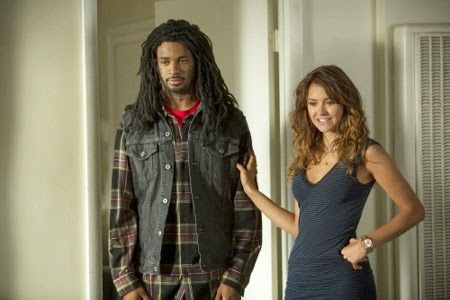 Damon Wayans Jr and Nina Dobrev in Let's Be Cops