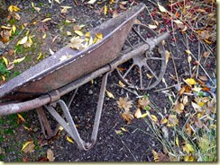 antique wheelbarrow all metal