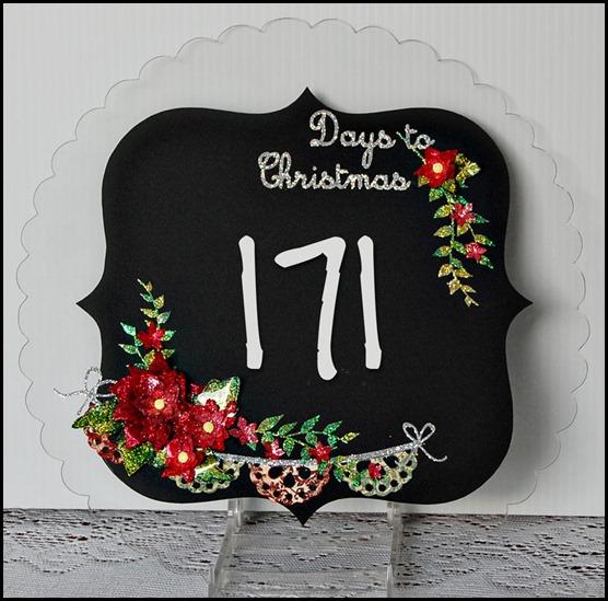 Days to Christmas Chalkboard at P K Glitz