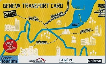 Cartão Unireso Geneva de transporte público