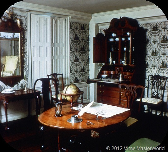 View-Master Connecticut (A750), Scene 13: Washington's Council Room, Webb House at Wethersfield
