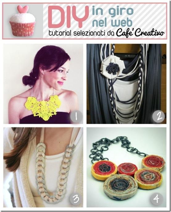 cafecreativo-tutorial collane riciclo pizzo maglietta rondelle carta