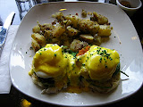 Crab Florentine at Cafe Mistique in San Francisco