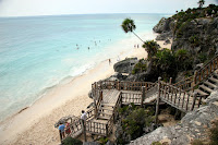 The beach at Tulum
