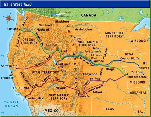 The Oregon Trail Driving The Historic Route ROAD TRIP USA Oregon - Us map santa fe
